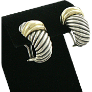 David Yurman 14K Sterling Silver Shrimp Earrings