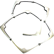 Early Hans Hansen Sterling Silver Necklace Denmark Art Deco No. 316