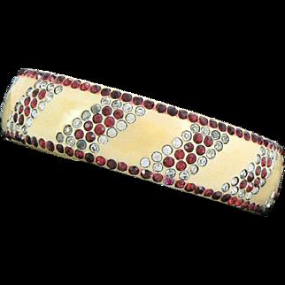 Authentic Art Deco Celluloid Paste Flapper Bangle