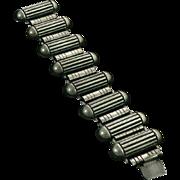 Art Deco Machine Age Sterling Silver Bracelet