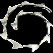 Bent Knudsen Denmark Mid-Century Modern Sterling Silver Necklace