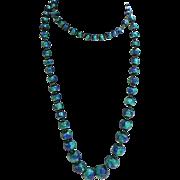 Amazing Peacock Eye Bead Necklace