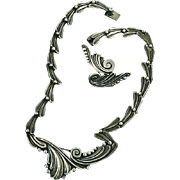 Margot de Taxco Sterling Necklace and Earrings Set