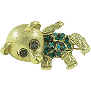 Hobe Teddy Bear Trembler Brooch
