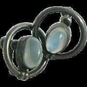 Moonstone Sterling Earrings Binder Brothers Mid Century Modern