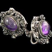 Amethyst Silver Earrings Italy