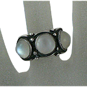 Mesmerizing Arts & Crafts Moonstone Silver Ring