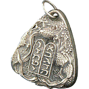 Henryk Winograd Ten Commandments Pendant Charm .999 Silver Judaica