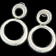 Huge Sterling Silver Hoop Earrings