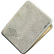 Elgin Sterling Silver Cigarette Case Gold Washed Hand Hammered