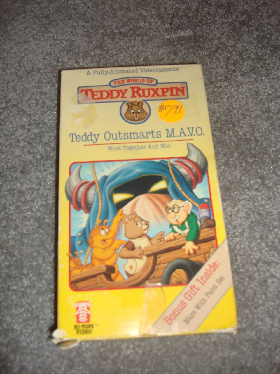 "MIB Video Cassette called ""Teddy Outsmarts M.A.V.O."""