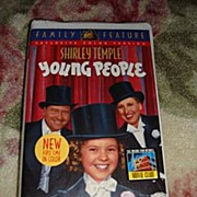 "NRFP Shirley Temple VHS Tape ""Young People"""