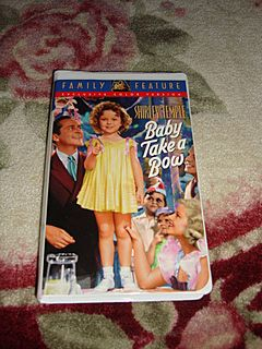 "NRFP Shirley Temple VHS Tape ""Baby Takes a Bow"""