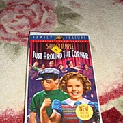 "NRFP Shirley Temple VHS Tape ""Just Around the Corner"" - Red Tag Sale Item"