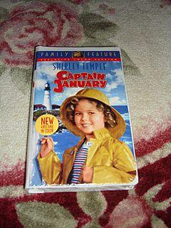 "NRFP Shirley Temple VHS Tape ""Captain January"""