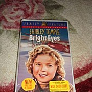 "NRFP Shirley Temple VHS Tape ""Bright Eyes"" - Red Tag Sale Item"