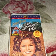 "NRFP Shirley Temple VHS Tape ""Rebecca of Sunnybrook Farm"""