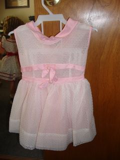 50's Style Pink Eyelet Dress for Playpal