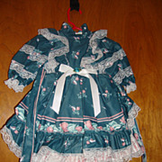 "Beautiful Doll Dress Marked Tabi 26"" - 28"""