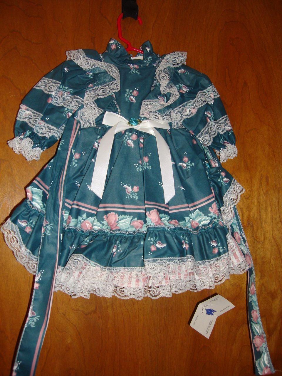 "Beautiful Doll Dress Marked Tabi 26"" - 28"""