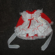 Small Red and White Doll Dress