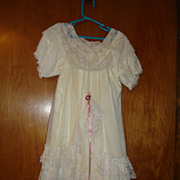 White Nylon Christening Dress for Doll