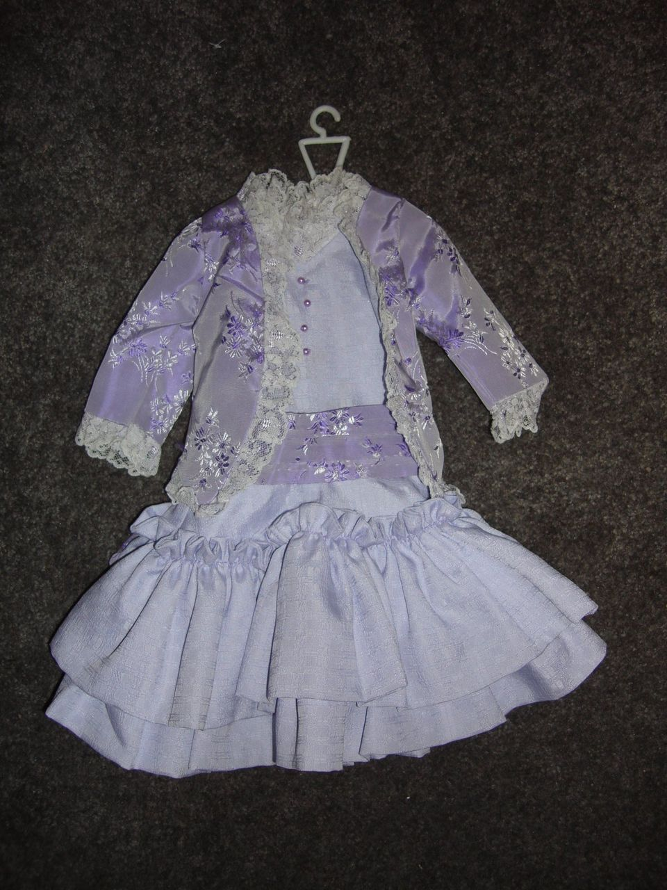 Beautiful Light Purple Satin Doll Dress