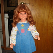"""Rare 36"""" Migliorati Doll from Italy from 1960"""