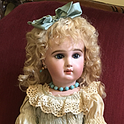 "Rare 1885 21"" Incised Jumeau Depose French Bisque Bebe doll"