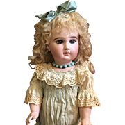 """Rare 1885 21"""" Incised Jumeau Depose French Bisque Bebe doll"""