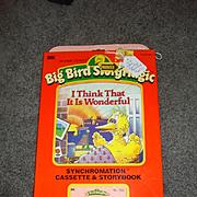 "NRFB Tape & Book for Talking Big Bird ""I Think It is Wonderful"""