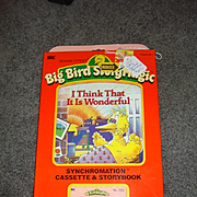 "NRFB Tape & Book for Talking Big Bird ""I Think It is Wonderful"""