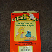 """NRFB Talking Big Bird by Ideal Tape and Book :I Can Count to Ten and Back Again"""""""