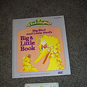 """Loose Ideal Tape and Book for Talking Big Bird """"Big and Little Book"""""""