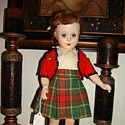 "Unmarked 18"" Hard Plastic Doll"
