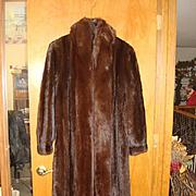 Full Length Vintage Brown Mink Coat