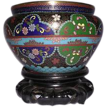 Late 19th Century Japanese Cloisonne Bowl