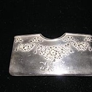 Sterling Silver Card Holder