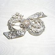 Hobe Sterling Silver Bow Flower Pin