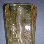 Acid Etched Crystal Vase