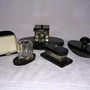 Art Deco Inkwell Set