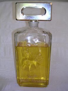 "Giant 11 1/2"" Evyan White Shoulder Factice Perfume Bottle"
