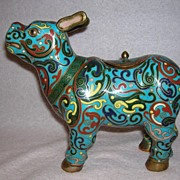 20th Century Chinese Cloisonne Water Buffalo