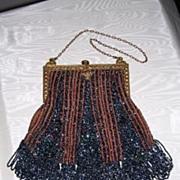 Victorian Blue Carnival Glass Opera Purse - Red Tag Sale Item