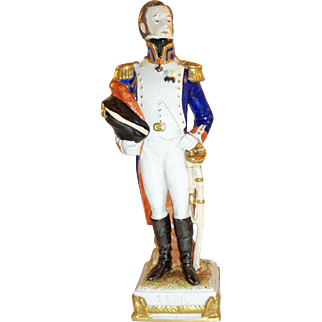Scheibe Alsbach German Porcelain Figurine of General Louis Lepic