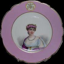 Haviland Handpainted Plate