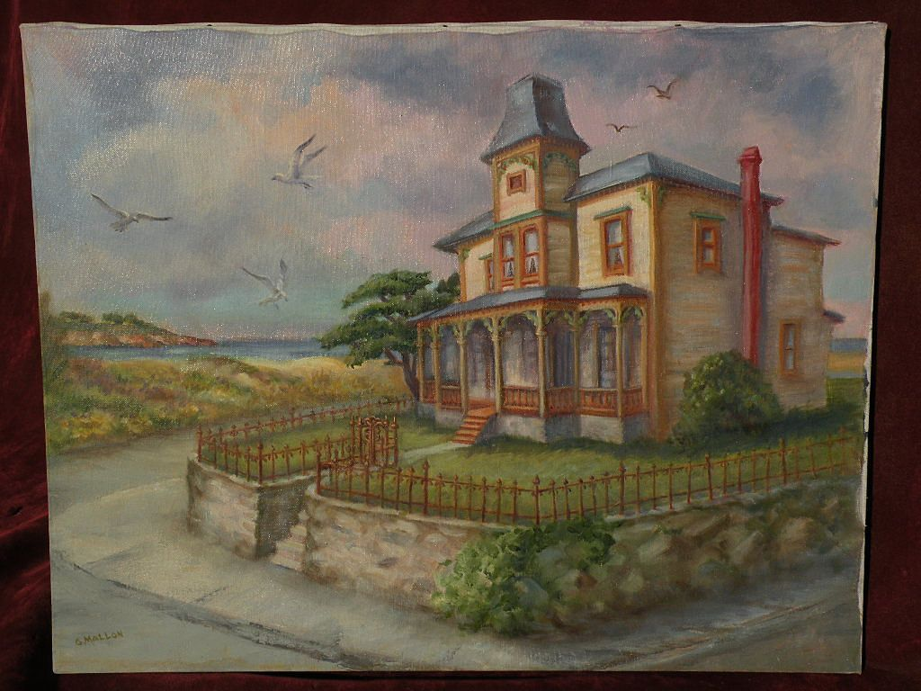 GRACE MALLON (1911-1997) California art Monterey Peninsula painting