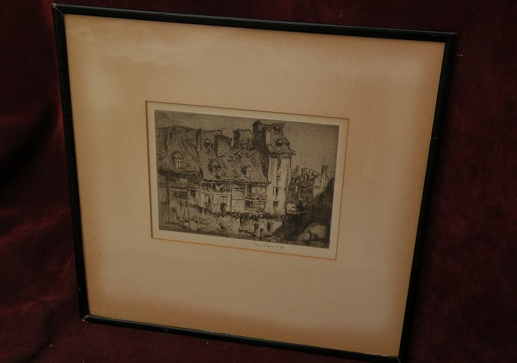 FRANK BRANGWYN (1867-1956) important British art pencil signed etching