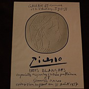 PABLO PICASSO (1881-1973) scarce original limited edition lithographic poster of 1957