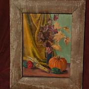 JOHN SOBLE (1893-1993) American art autumn harvest still life painting